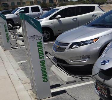 Level 2 ev charging station at Mojave Desert Air Quality Management District (MDAQMD)