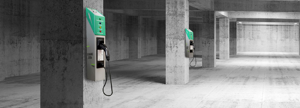 Post Evse Introduces New Wall Mounted Electric Vehicle Charging Stations Today At The Portland Auto Show
